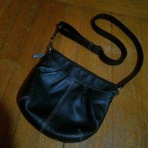 Coach Black Leather Small Handbag Bag Purse